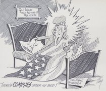 """Image of """"There's COMMIES under my bed!"""" - Tingley, Merle R., 1921-"""
