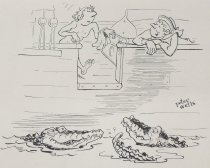 """Image of """"Sharks? Bless you, sir - - nary a one!"""" - Wells, Peter, 1912-1995"""