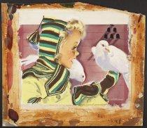 Image of [Girl feeding doves] - Whitcomb, Jon, 1906-1988