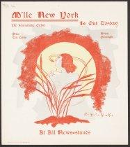 Image of M'lle New York Magazine Art Nouveau Poster  M'lle New York Magazine Art Nouveau Poster No. 1 1895 M'lle New York Magazine Art Nouveau Poster No. 1 1895 M'lle New York Magazine Art Nouveau Poster No. 1  - Huneker, Clio, 1870-1925