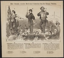 Image of How Columbia Receives McClellan's Salutation From the Chicago Platform - Stephens, Henry Lewis, 1824-1882