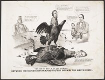 Image of The Great Match at Baltimore, Between the Illinois Bantam and the Old Cock of the White House - Maurer, Louis, 1832-1932