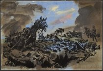Image of [Battle scene with horses] - Sickles, Noel, 1910-1982