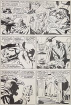 Image of [Page 4 of the story 'Lonely are the hunted' drawn for 'Captain Britain' Issue #29] - Buscema, John, 1927-2002