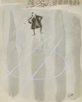 Image of [Man makes dollar sign with ice skates on a frozen pond] - Ruge, John, 1915-