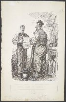 """Image of British Labor to German Labor: """"These Are My Terms"""" - Cesare, Oscar Edward, 1885-1948"""