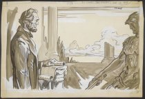 Image of [Abraham Lincoln and Roman soldier] - Cesare, Oscar Edward, 1885-1948