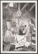 "Image of Mary Shelley's Frankenstein: A Portfolio by Berni Wrightson: I entered the room where the corpse lay, and was led up to the coffin. - Wrightson, Bernie ""Berni"", 1948-2017"