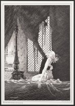 "Image of Mary Shelley's Frankenstein: A Portfolio by Berni Wrightson: She was there, lifeless and inanimate, thrown across the bed... - Wrightson, Bernie ""Berni"", 1948-2017"