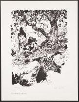 Image of Edgar Rice Burroughs Portfolio: Pellucidar, David Encounters Dian - Green, Dan