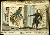 Image of Modern method of carrying a majority or prime deep pockets for banging up. - Heath, William, 1795-1840