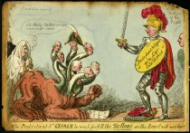Image of The Protestant St. George too much for all the tallons, or the beast with seven heads - Cruikshank, Isaac, 1756-1811