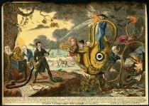 Image of A Patriot Luminary Extinguishing Noxious Gas!!!- - Cruikshank, George, 1792-1878