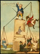 Image of John Bull as justice weighing a commander - Cruikshank, Isaac, 1756-1811