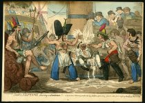 Image of Sons of Neptune Shaving a Landsman!- - Cruikshank, Isaac Robert, 1789-1856