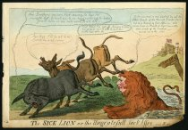 Image of The Sick Lion or the Ungrateful Jackasses. - Cruikshank, Isaac, 1756-1811