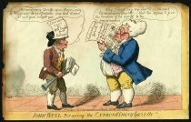 Image of John Bull Perusing the Exraordinary Gazette!! - Cruikshank, George, 1792-1878