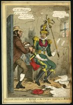 Image of Poyais Royalty in Quad, or the Cacique Waiting for Bail - Heath, William, 1795-1840