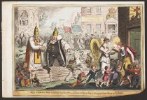 Image of Old Thirty Nine Shaking Hands With His Good Brother the Pope of Italy, or Covering Up, Versus Sealing Up the Bible - Cruikshank, George, 1792-1878