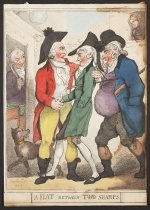 Image of A Flat between Two Sharps - Rowlandson, Thomas, 1756?-1827