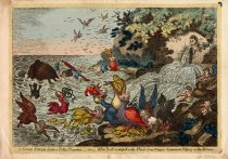 Image of A Great Stream from a Pretty Fountain;- or- John Bull Swamped in the Flood of New-Taxes:- Cormorants Fishing in the Stream. - Williams, Charles, fl. 1797-1830