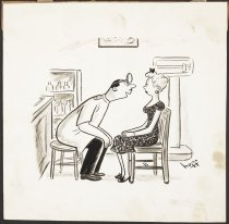 "Image of ""Has anyone ever told you, you have lovely eyes, ears, nose and throat, Miss Madwick"" - Hoff, Syd, 1912-2004"