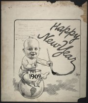Image of Happy New Year 1909 - Ireland, Billy, 1880-1935
