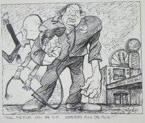 "Image of ""Pull the plug....pull the plug...somebody pull the plug!!"" - Szep, Paul, 1941-"