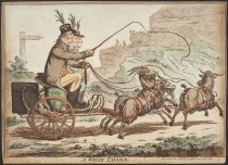 Image of A Welch Tandem  - Gillray, James, 1756-1815