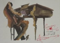 Image of [Man at Piano] - Weisman (?)