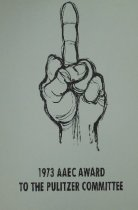Image of 1973 AAEC Award to the Pulitzer Committee - Unknown