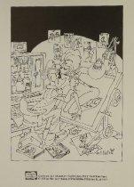 Image of [self-caricature at drawing board] - Kurtzman, Harvey, 1924-1993