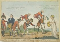 Image of Military leap frog-or Hints to young Gentlemen by Messrs Blackwood & Co - Cruikshank, Isaac Robert, 1789-1856