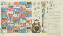 Image of The first 100 days:  a board game for power players - Kallaugher, Kevin (Kal), 1955-