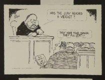Image of Has the jury reached a verdict? - Jurden, Jack, 1926-2015