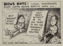 Image of News Note: Illigal immigrants begin losing welfare benefits April 1st - Smith, Robert Jr.