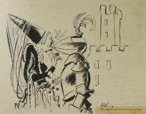 "Image of ""No nonsense until you've eaten, Lancelot!"" - White, Cecil ""Unk"", 1900-1986"