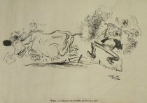 """Image of """"Cripes--marvellous how these bushfires get away from you!"""" - White, Cecil """"Unk"""", 1900-1986"""
