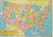 Image of A MAD Pictorial Map of the United States - Aragones, Sergio, 1937-