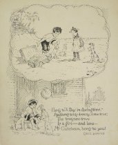 """Image of Here's to """"A Boy in Springtime,"""" And here's to his dreams, come true; The treasure-trove Is a girl -- and love--McCutcheon, here's to you! (and yours) - Lowry, Everett, fl.1903-1914"""