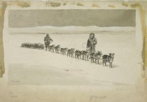Image of [Dog sled team] - Schmedtgen, William Hermann, 1862-1936