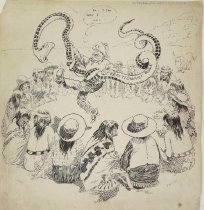 Image of He May Instruct the Hopis in Snake Dancing - Bradley, Luther Daniels, 1853-1917
