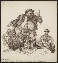 Image of (Good old John Bull)..You have no heart...Look at those poor, poor refugees.... - Szyk, Arthur, 1894-1951