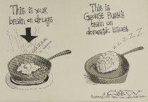 Image of This is your brain on drugs - This is George Bush's brain on domestic Issues - Catrow, David, 1952-