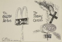 Image of The Golden Arches - The Flaming Crosses - Catrow, David, 1952-