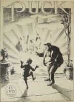 Image of Puck July 4th cover art - Glackens, Louis M., 1866-1933
