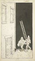 Image of men with ladder - Howarth, F.M., 1865-1908