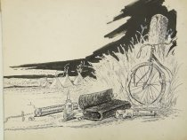 Image of bicycle and tools - Glackens, Louis M., 1866-1933