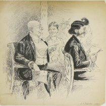 Image of men in audience - Pughe, J.S., 1870-1909