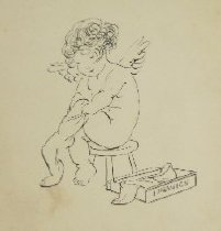 Image of [Cupid putting on stockings] - Herford, Oliver, 1863-1935